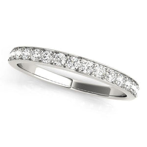 1/3 ct tw 14kt Gold Prong Set Diamond Wedding Band, F Color VS Diamonds