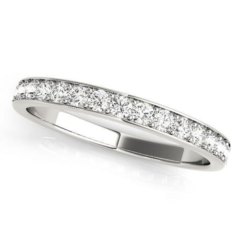 2/3 ct tw 14kt Gold Prong Set Diamond Wedding Band, F Color VS Diamonds