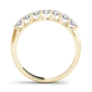 1 3/8 ct tw 14kt Gold Prong Set Diamond Wedding Band, F Color VS Diamonds