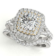 Load image into Gallery viewer, 1 3/4 ct tw Halo Engagement Ring F VS Diamonds GIA Center Stone
