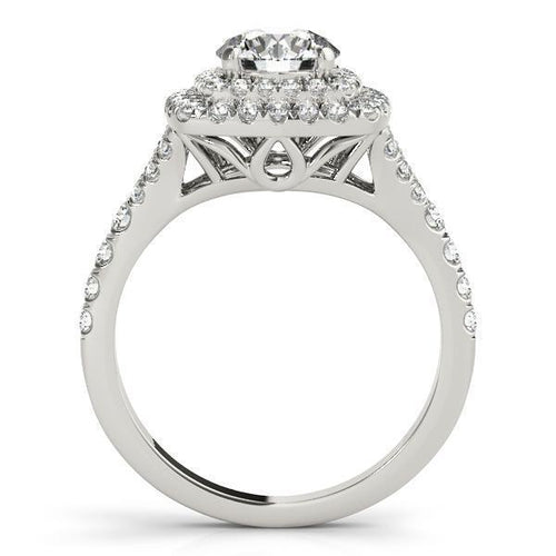 1 3/8 ct tw Halo Engagement Ring F VS Diamonds GIA Center Stone