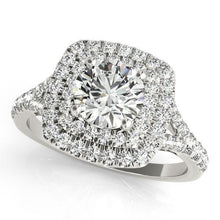 Load image into Gallery viewer, 1 3/8 ct tw Halo Engagement Ring F VS Diamonds GIA Center Stone