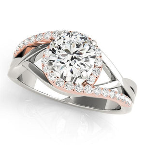 1/4 ct tw Bypass Engagement Ring with F Color VS Clarity GIA Certified Diamond