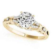 Load image into Gallery viewer, 3/8 ct tw MultiRow   Engagement Ring with G Color SI1 Clarity Diamonds GIA Center Stone.