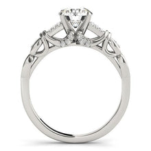 Load image into Gallery viewer, 1/8 ct tw MultiRow   Engagement Ring with F Color VS Clarity GIA Certified Diamond