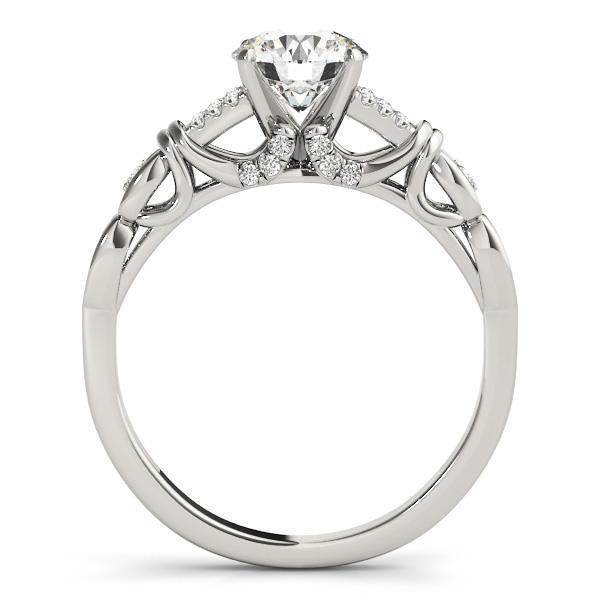 1/8 ct tw MultiRow   Engagement Ring with F Color VS Clarity GIA Certified Diamond