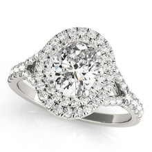 Load image into Gallery viewer, 7/8 ct tw Halo Oval Engagement Ring F VS Diamonds GIA Center Stone
