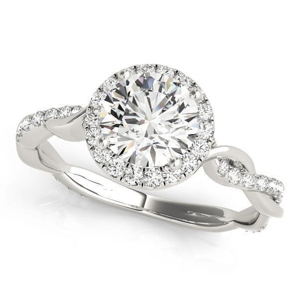 1 1/3 ct tw Halo Engagement Ring F VS Diamonds GIA Center Stone