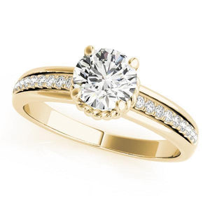 7/8 ct tw Single Row Engagement Ring F VS Diamonds GIA Center Stone