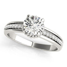Load image into Gallery viewer, 7/8 ct tw Single Row Engagement Ring F VS Diamonds GIA Center Stone
