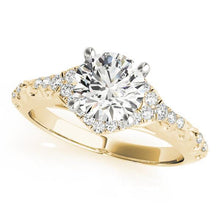 Load image into Gallery viewer, 1 1/6 ct tw Halo Round Vintage Engagement Ring F VS Diamonds GIA Center Stone