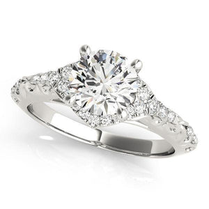 1 1/6 ct tw Halo Round Antique Style   Engagement Ring with G Color SI1 Clarity Diamonds GIA Center Stone.