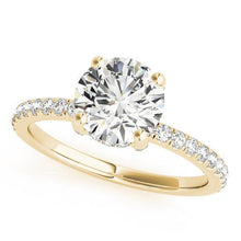 Load image into Gallery viewer, 1 1/4 ct tw Single Row Engagement Ring F VS Diamonds GIA Center Stone