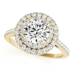 1 1/2 ct tw Halo Engagement Ring F VS Diamonds GIA Center Stone