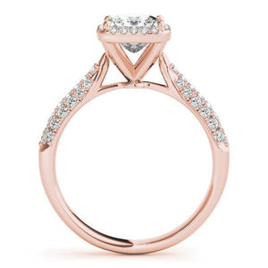 1 1/4 ct tw Halo  Pave Engagement Ring F VS Diamonds GIA Center Stone