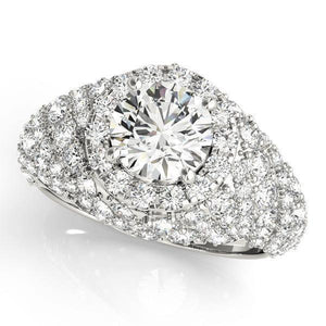 2 5/8 ct tw Halo Engagement Ring with G Color SI1 Clarity Diamonds GIA Center Stone.