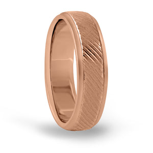 14kt Gold Mens Band Fancy Carved 5MM
