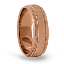 Load image into Gallery viewer, 14kt Gold Mens Band Basic Carved 8MM