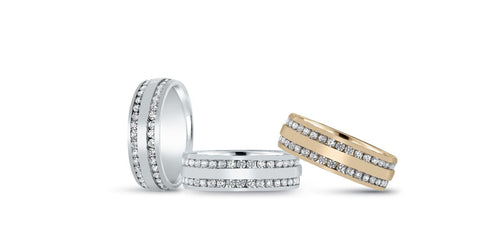 14kt Gold Mens Band Diamond