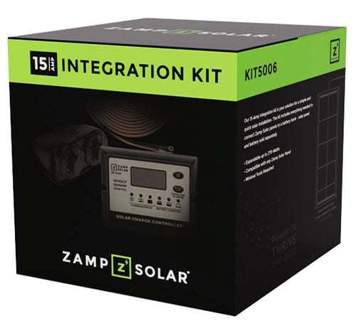 Zamp Solar 15 Amp Controller Roof Cap and Integration Kit