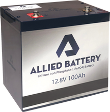 Load image into Gallery viewer, Allied Lithium 12V Battery (100 Amp Hours)