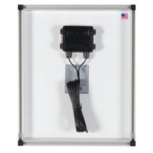 Zamp Solar 40 Watt Solar Panel Back Wiring