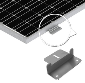 Universal Solar Panel Mounting Z-Bracket With Hardware