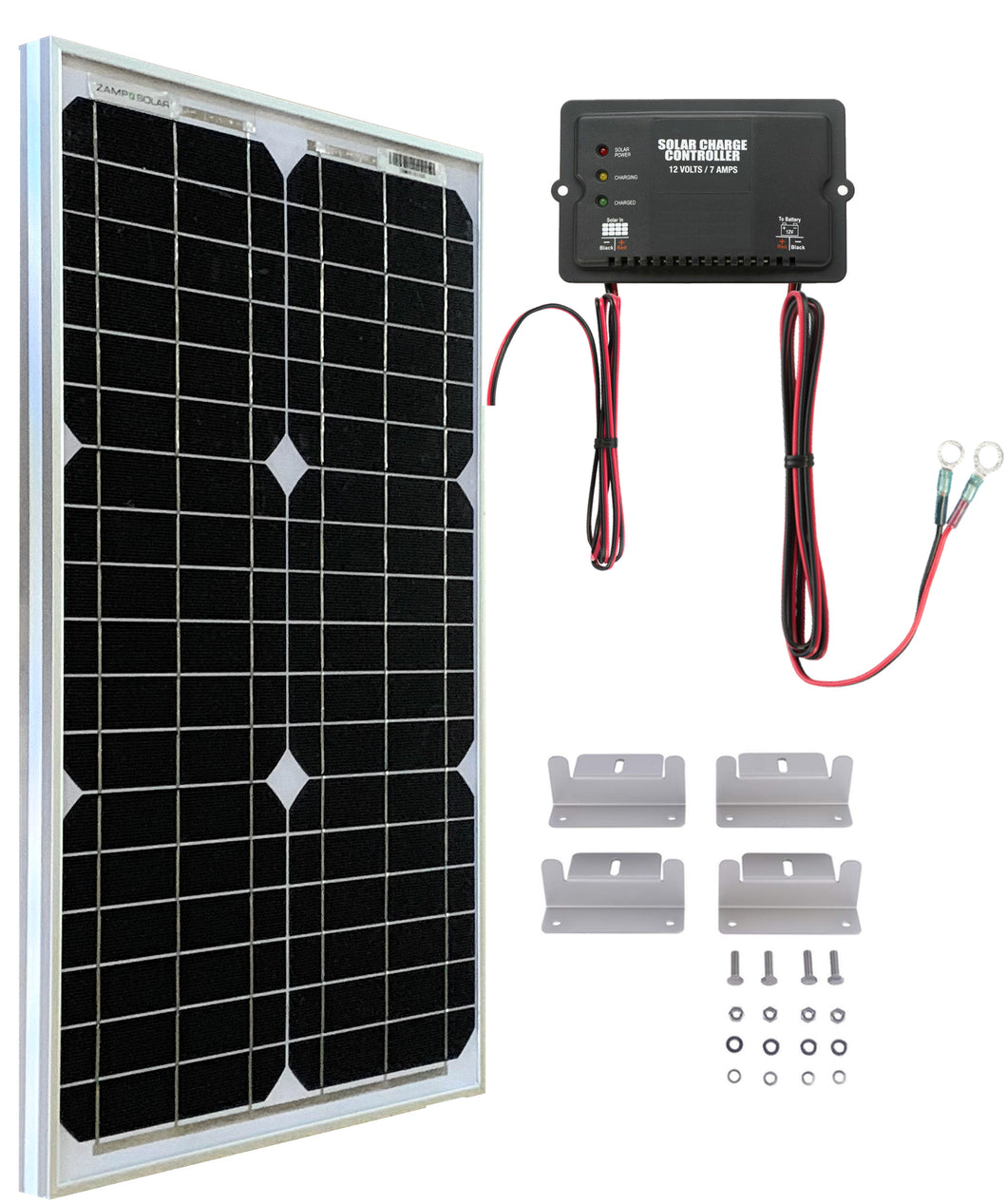 UTV Side By Side Solar Panel Battery Maintainer Charging Kit