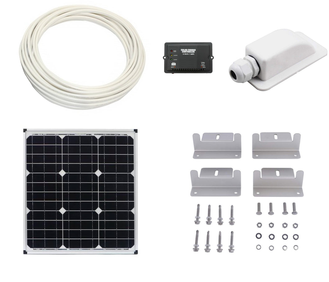 Basic RV and Van Solar Battery Charging Kit Builder