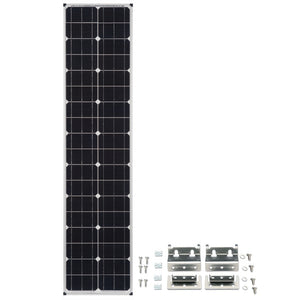 Zamp Solar Narrow Long 80 Watt Solar Panel with AirStream Mounts