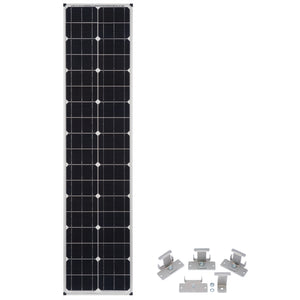 Zamp Solar Narrow Long 80 Watt Solar Panel with Universal Mounts