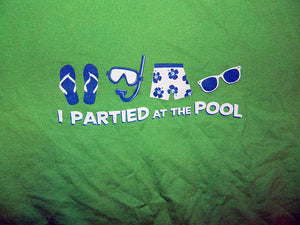 I partied at the pool