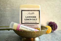 Lemon + Lavender Salt -Soap