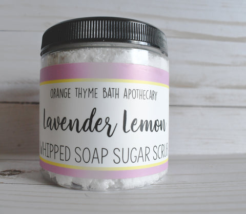 Whipped Soap Sugar Scrub - Lavender Lemon