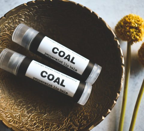 Peppermint COAL Lip Balm