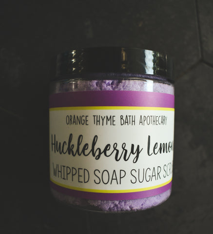 Whipped Soap Sugar Scrub - Huckleberry Lemon