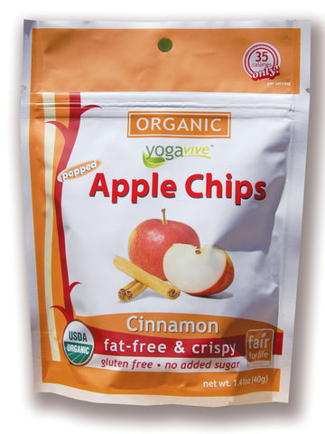 Apple Chips - Cinnamon <br> $4.49 per bag <br> (Only sold in 6 pk)