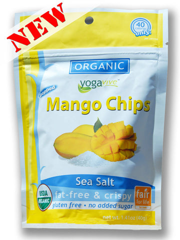 Mango Chips - Sea Salt <br> $4.49 per bag <br> (Only sold in 6 pk)