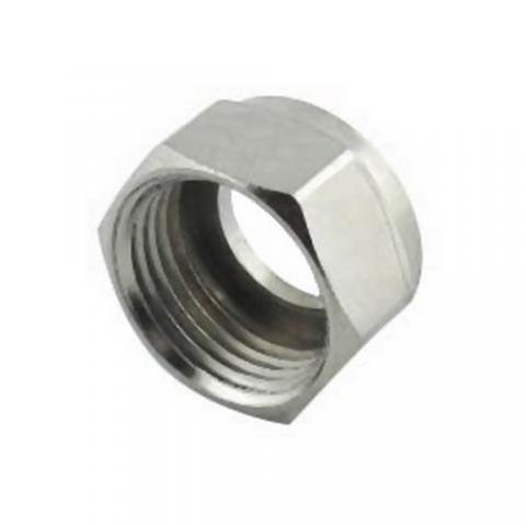 Hex Beer Nut, Brass Plated