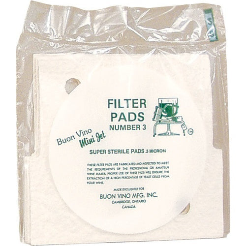 Buon Vino Mini Jet Filter (Sterile Pads) - 3 Pack