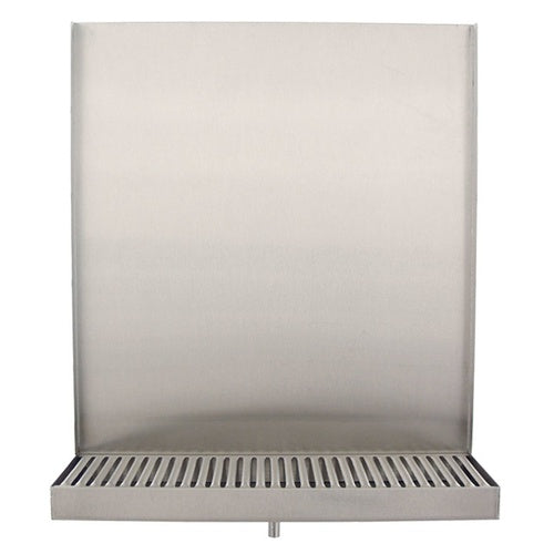 Deluxe Wall Mount Drip Tray - 13 in. (Back Splash & Drain)