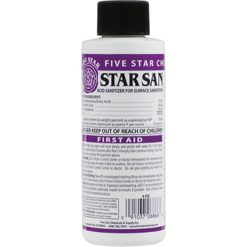 Star San Surface Sanitizer - High Foaming - 1 qt. Spray Bottle - Makes 16 Quarts (Commercial Use)