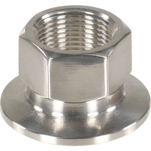 "Stainless - 1.5"" TC x 3/4"" Female BSPP"