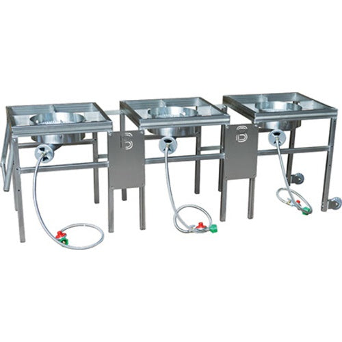 3 Burner Propane Brewing Stand with Regulators