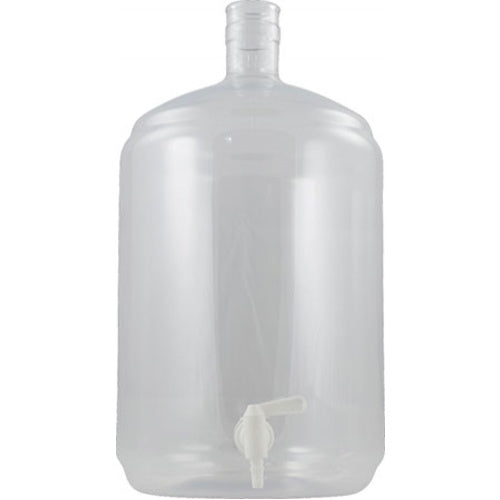 Plastic PET Carboy - 5 Gallon Ported (Spigot Not Included)