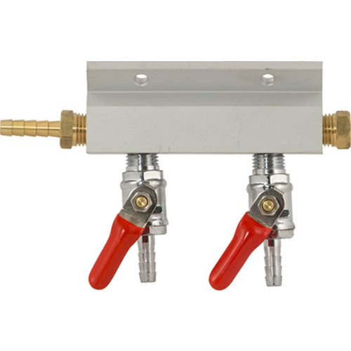 CO2 Gas Manifold for Multiple Kegs - 1/4 in. (Aluminum)