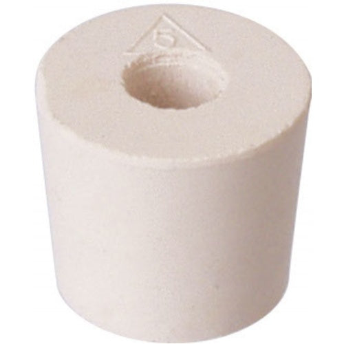 Rubber Stopper - #5 With Hole