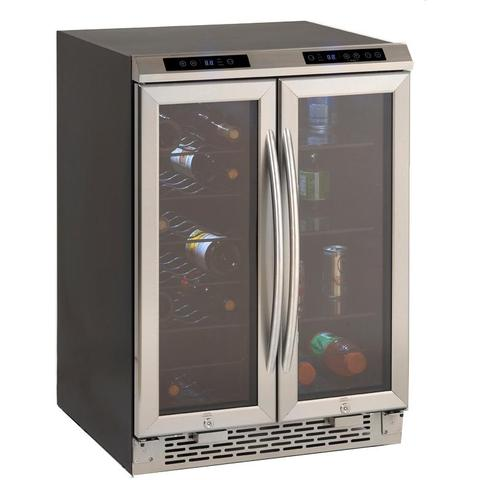 19-Bottle Side-by-Side Wine and Beverage Cooler in Stainless Steel (3593992208464)