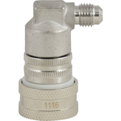 Stainless Steel Gas In Ball Lock Quick Disconnect Flare Fitting - KL03001
