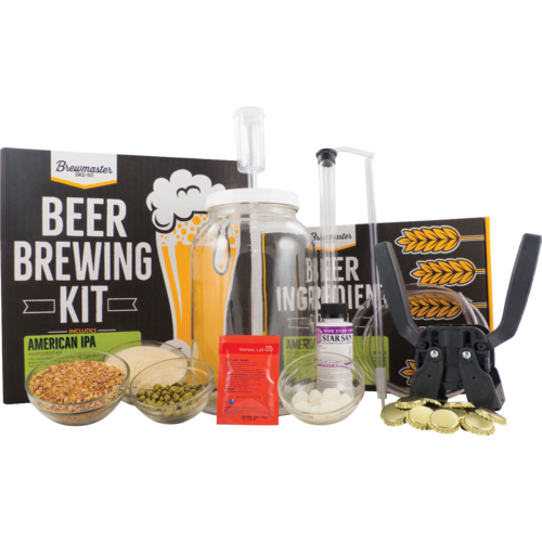 1 Gallon Homebrew Starter Kit (Includes American IPA Recipe Kit) (3598509211728)